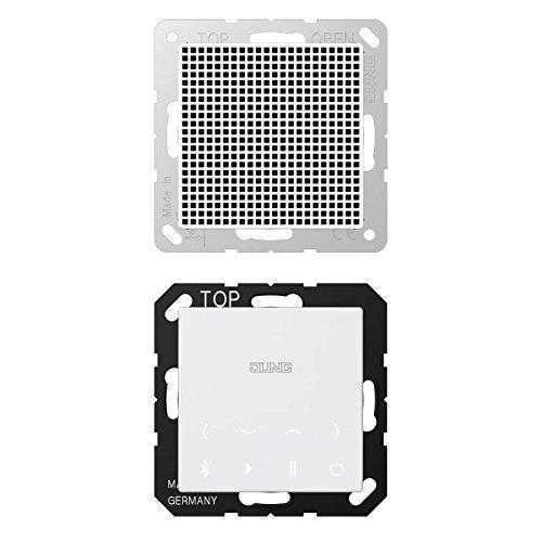 Jung - Kit monofasico Bluetooth Connect Display Altavoz Blanco Alpino BTC A 518 WW