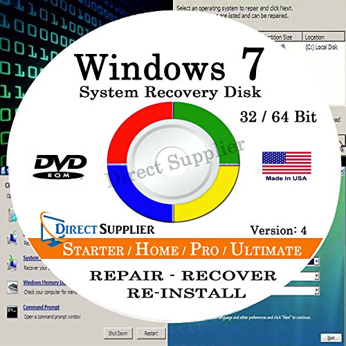 WINDOWS 7 (32 Bit & 64 Bit) DVD - Windows 7 Software 32 Bit