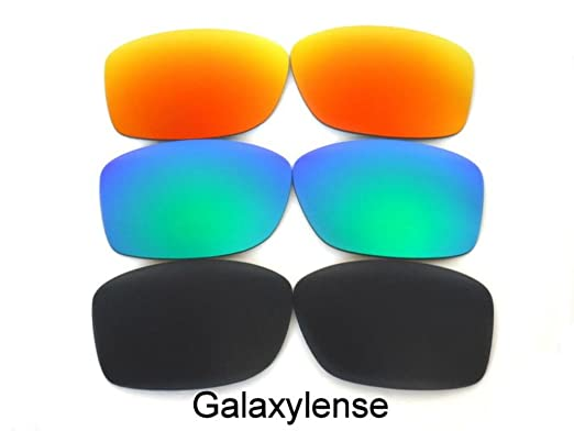 b1fd25b14a Replacement Lenses For Oakley Jupiter Squared Black Green Red Polarized 3PS