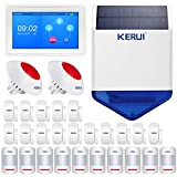 KERUI K7 Wireless WIFI GSM Security Smart Home Alarm System Kit - Full Touch Screen Color Display DIY Auto Dial Free APP IOS/Android Remote Control KERUI