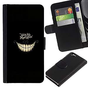 KLONGSHOP // Tirón de la caja Cartera de cuero con ranuras para tarjetas - Estamos todos enojados aquí ALICE - Apple Iphone 6 //