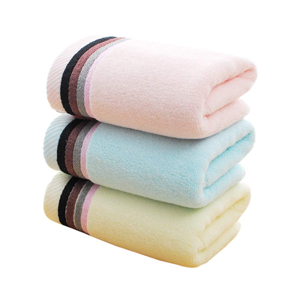 Shanxi horse Towel Absorbent Wipes Towel Bath Travel - Three-Piece Absorbent Towel Swimming Sandpaper-Free Outdoor Sports Towel Beach Blanket Bath Towel Children and Adults