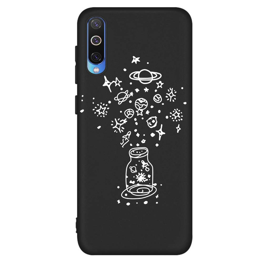 Crystal Clear Flexible Compatible with for Samsung A50,Soft Ultra Thin Transparent Silicone TPU Non Slip Rubber Gel Frame Colorful Bumper Cute Romantic Flower Rose Design Pattern
