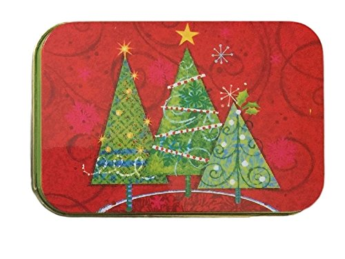 [해외]크리스마스 선물 카드 소지자 틴 박스 크리스마스 트리 및 순록 4 팩/Christmas Gift Card Holders Tin Box Christmas Trees and Reindeer 4 Pack
