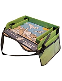 Kids Play Tray - Free Bag - Perfect Activity Tray or Car Seat Tray - Kids Travel Trays are an Ideal Organizer Tray, Lap Desk or Snack Tray - A Road Trip Essential - Green - By Travel in Sanity BOBEBE Online Baby Store From New York to Miami and Los Angeles