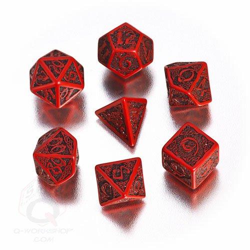 Q Workshop Polyhedral 7 Die Set Celtic