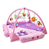 LemonGo Baby Game Cawling Blanket Activity Play Gym Mats Multi-Style (Pink)