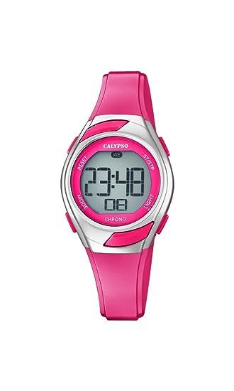 Calypso Reloj Digital para Mujer de Cuarzo con Correa en Plástico K5738/4: Amazon.es: Relojes