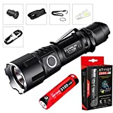 Bundle: Klarus XT11GT CREE XPH35 HD E4 LED 2000 Lumens 18650 Tactical Rechargeable Flashlight With SkyBen USB Light and Car Charger