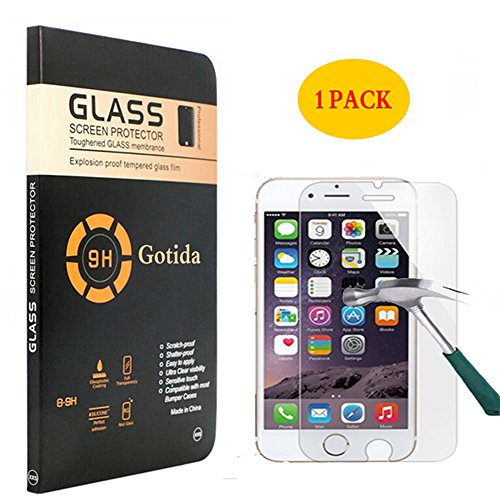 iPhone 7 Plus Screen Protector,1 Pack Tempered Glass Screen Protector For iPhone 7 Plus,Gotida iPhone 7 Plus Screen Protector Film Case for iPhone 7 Plus