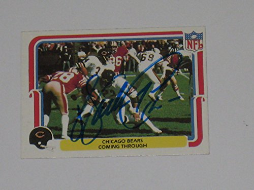 (Walter Payton #34 Chicago Bears HOF Autographed 1980 Fleer Card #7 of 70 Football Card JSA COA)