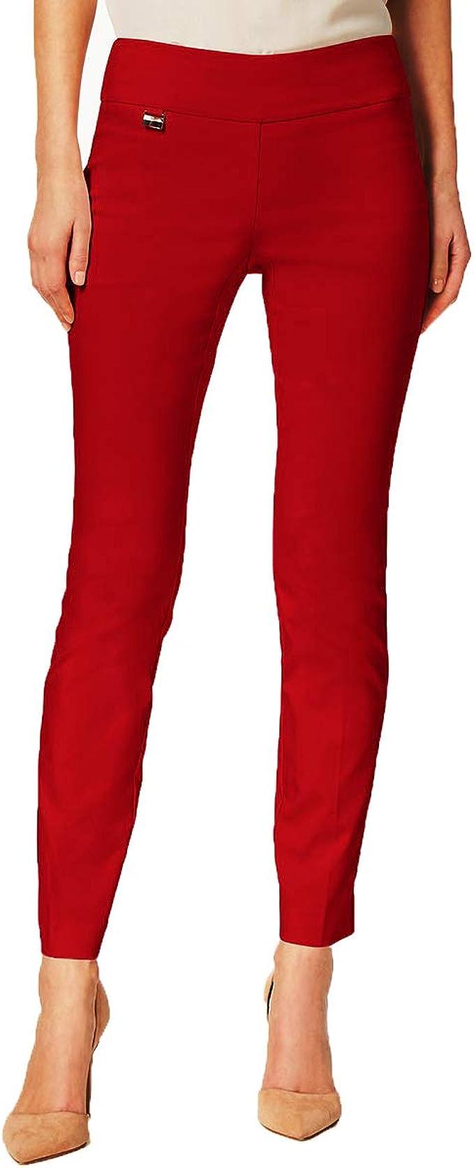 ALFANI Size 14P Petite Gray Skinny Leg Elastic Comfort Waist Pants NEW