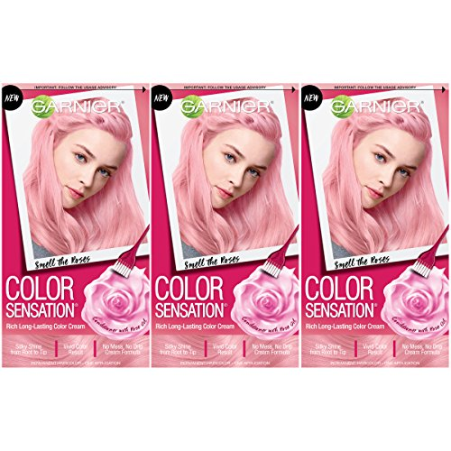 Garnier Hair Color Sensation Hair Cream, Smell The Roses, 3 Count