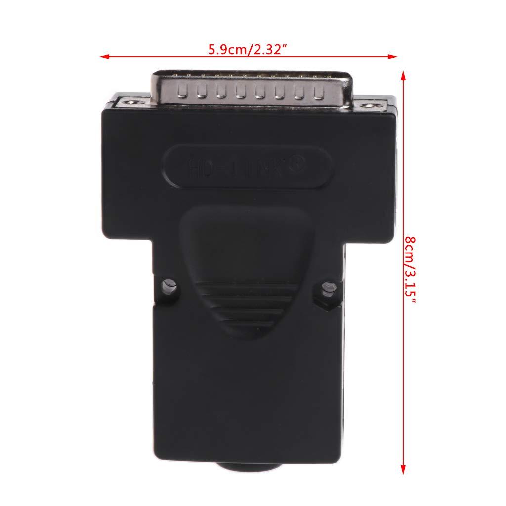 FATTERYU DB25 25 Pines Conector sin Soldadura para Conector Macho y Hembra