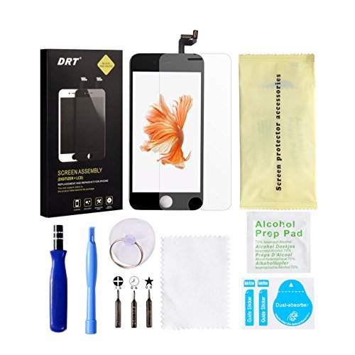 iPhone 7 Plus Screen Replacement Black LCD Display 3D Touch Screen Digitizer Frame Assembly Full Set with Free Tools and DRT Professional Glass Screen Protector for iPhone 7 Plus (5.5 inches) (Black)