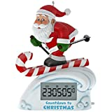 Hallmark Keepsake 2017 Santa Skiing Countdown to Christmas Clock Christmas Ornament With Light