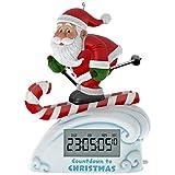 Hallmark Keepsake 2017 Santa Skiing Countdown to Christmas Clock Christmas Ornament With Light