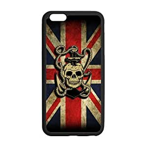 LeonardCustom Fashion Navy Sailor Anchor Protective Gel Rubber Coated Phone Cover Case for iPhone6 Plus 5.5 inch