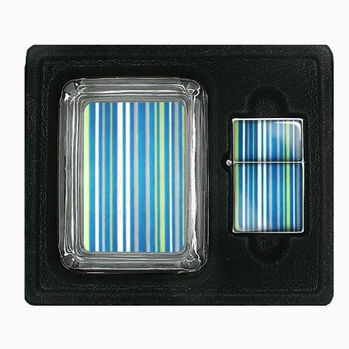 1960s Or 70s Mod Wallpaper 104 Glass Ashtray Oil Lighter Gift Set D-281 70s Mod Wallpaper