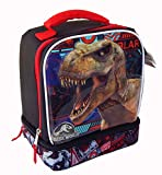 JURASSIC WORLD KINGDOM FALLEN Dual-Chamber Lead-Safe Insulated Lunch Tote Box Bag