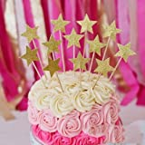 Perfec Twinkle Twinkle Little Star Birthday Cupcake Toppers Baby Shower Cupcake Toppers Gold Star Toppers Set of 24