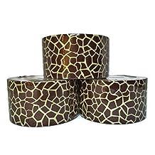 Giraffe Animal Print Duct Tape, 3-roll Set