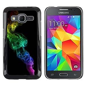 Paccase / SLIM PC / Aliminium Casa Carcasa Funda Case Cover para - Rainbow Colors Black Minimalist - Samsung Galaxy Core Prime SM-G360