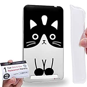 Case88 [Asus Zenfone 6] Gel TPU Carcasa/Funda & Tarjeta de garantía - Art Drawing Fashion Cat Full Face Animal Portraits Art1811