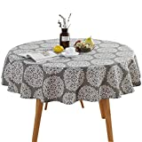 Table Cloth, Round Stripe Cotton Line Table Cover