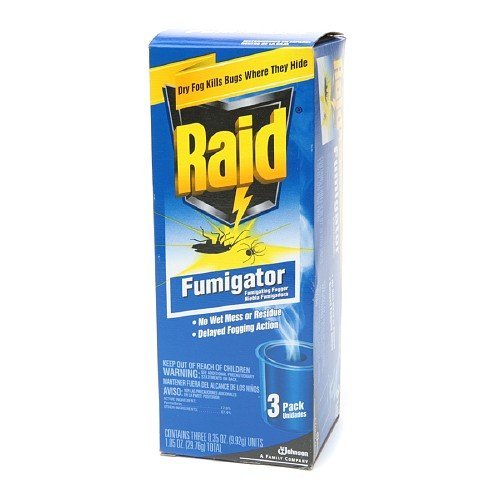 Raid Fumigator Fumigating Fogger Kills Bugs 3 ea (MULTIPACK) (4) by Raid by Raid