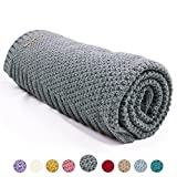 mimixiong Baby Blanket Knit Toddler Blankets for Boys and Girls (Grey,40''x30'')