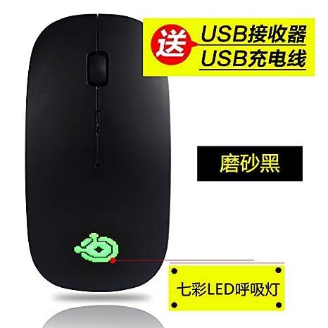 Ratón inalámbrico de carga duradera ordenador portátil de oficina juego delgado botón silencioso silencioso ratón, D: Amazon.es: Electrónica
