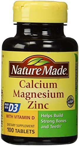 Nature Made Calcium Magnesium & Zinc Tabs, 100 ct