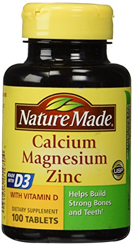 Nature Made Calcium Magnesium & Zinc Tabs, 100 ct (100 Zinc Tablets Calcium Magnesium)