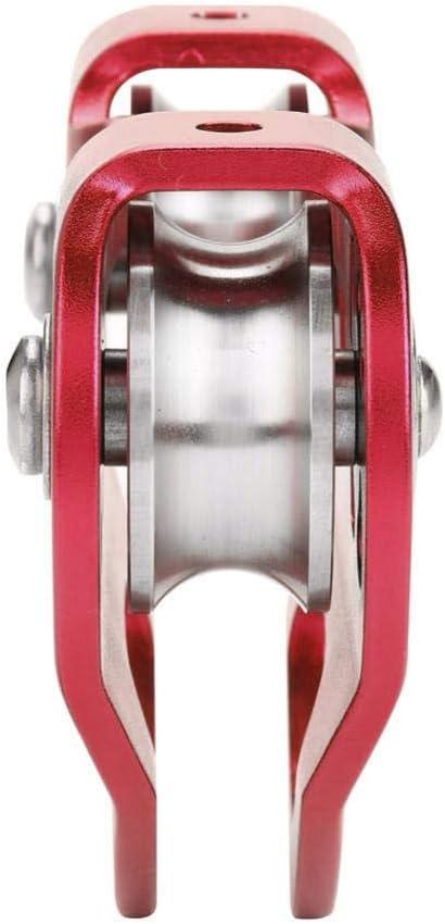 Alomejor Cable en Forma de polea, 30KN Línea de Doble Cremallera Cable de Rescate Polea de Doble Velocidad/Trolley Backyard Equipo en Forma de ...