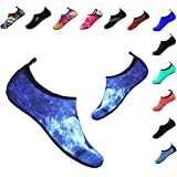 Kids Water Shoes Aqua Swim Socks Shoes Beach Pool Surfing for Boys & Girls(Rock-Blue,26/27EU)