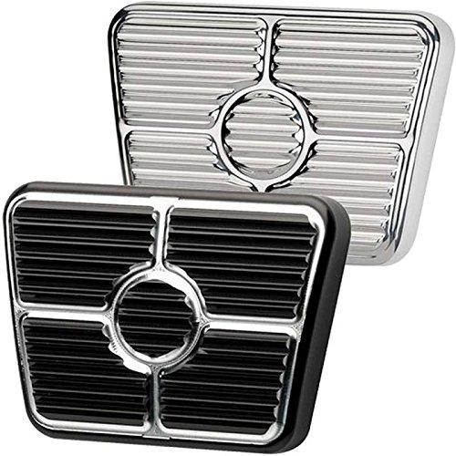 Eckler's Premier Quality Products 33190696 Camaro Brake/Clutch Pedal Pad Polished Aluminum Billet Specialties
