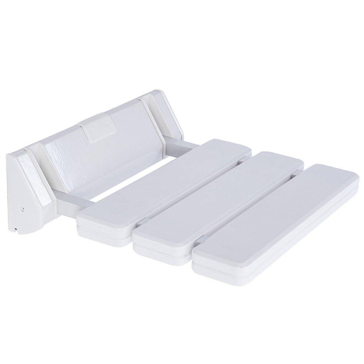 DXP Sedile ribaltabile per doccia ribaltabile pieghevole fino a 130kg risparmio spazio bagno montaggio a parete Bianco JCH01