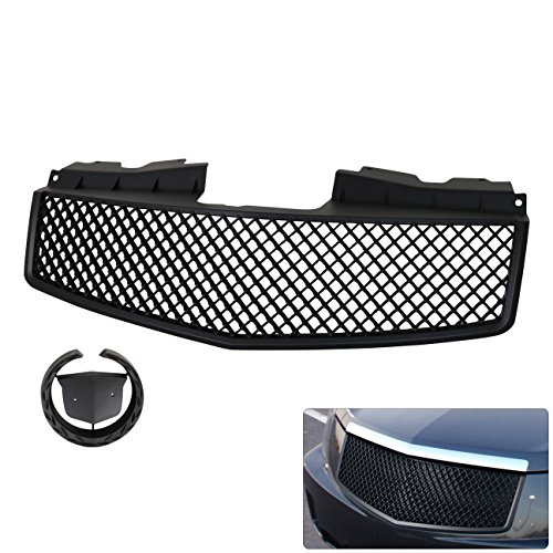 Cadillac Cts Black Abs Front Upper Bumper Crossweave Mesh 3D Style Replacement Upgrade Grille Grill
