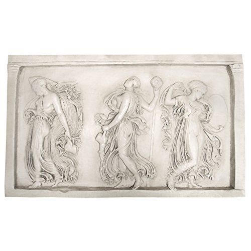 Design Toscano Dancing Muses of Hellenistic Greece Sculptural Wall Frieze