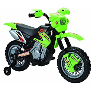 Happy Rider/Fun Wheels 6-volt Battery Operated Dirt Bike Ride On, Green