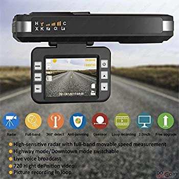 Radar Detector, 2018 New CAR Speed Trap Detector, with HD DVR Dash CAM,