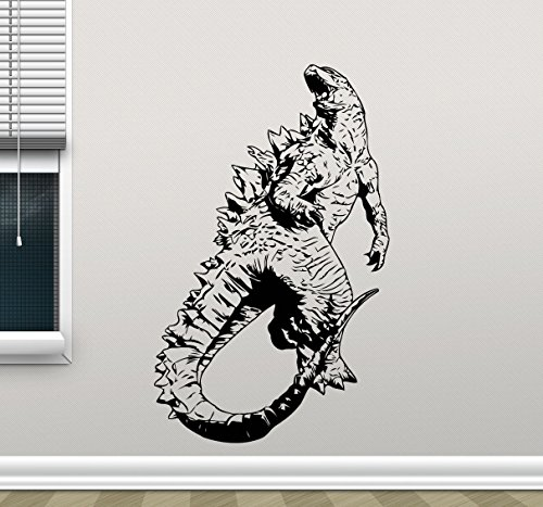 Godzilla Wall Decal Movie Monster Godzilla Vinyl Sticker Bedroom Wall Art Design Housewares Kids Room Bedroom Decor Removable Wall Mural (Show Me Pictures Of Monster High)