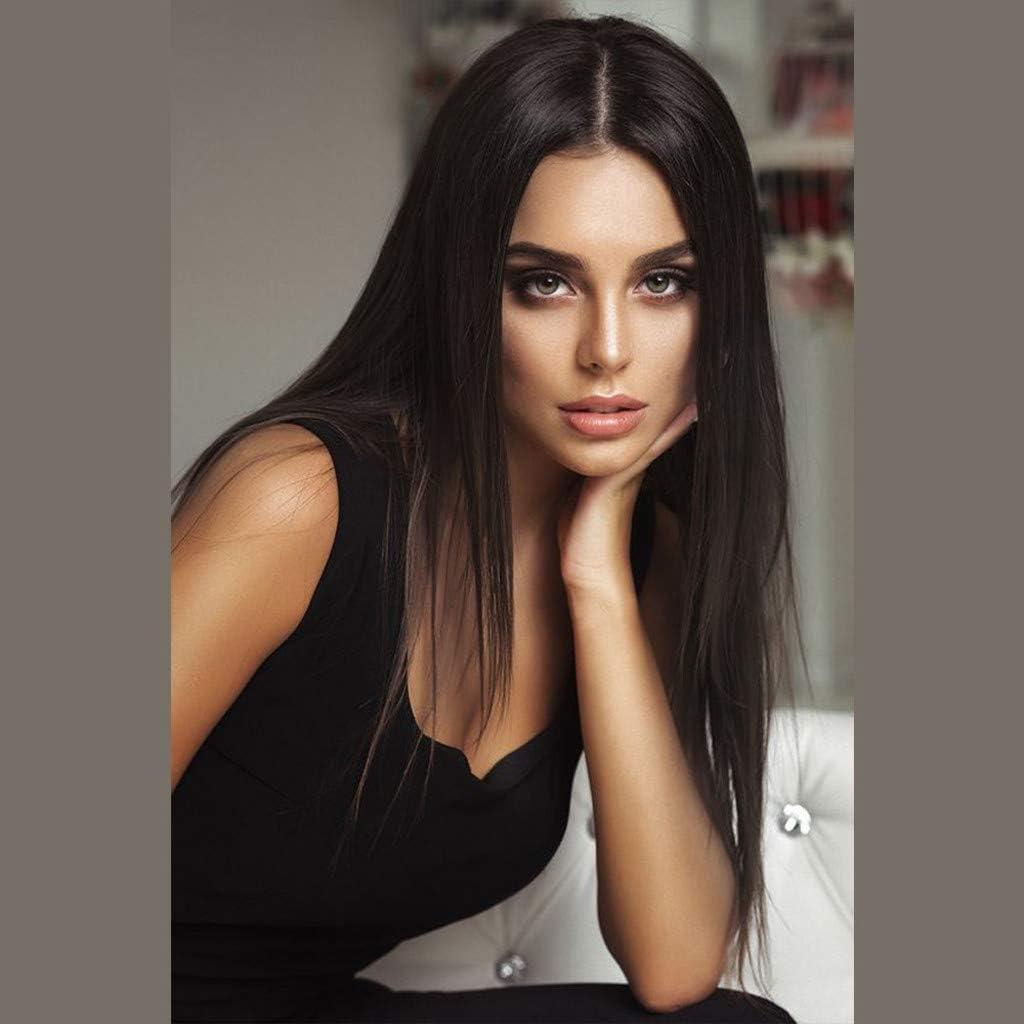 Straightened Long Layered Black Hair 74