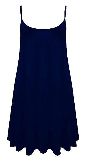 84004271c8c Baliza - Vestido - Sin Mangas - para Mujer Negro Azul Marino X-Large  Amazon .es  Ropa y accesorios