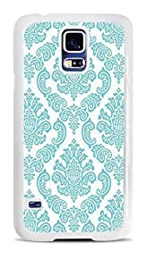 DamaskTeal White Hardshell Case for Samsung Galaxy S5
