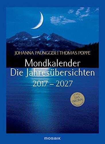 Mondkalender - die Jahresübersichten 2017-2027