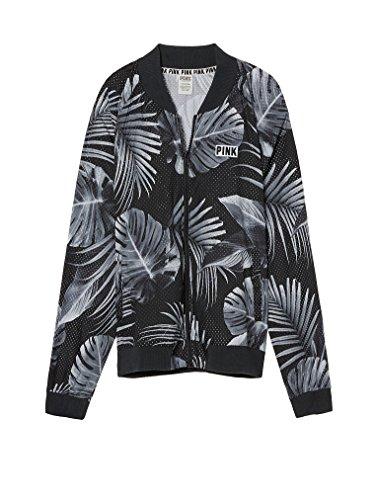 Tropical Print Jacket (Victoria's Secret PINK Perforated Bomber Jacket Tropical Print (Medium))