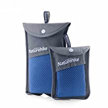 Superfine Fiber Quick Dry Travel Bath Towels Ultralight Washcloth Antibacteria Soft Towel Blue
