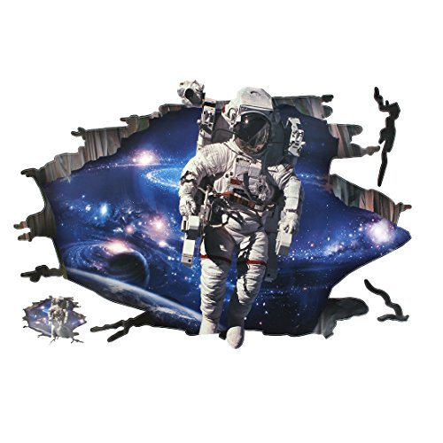 - Uxcell a16031000ux0195 Outer Space Astronaut Pattern Room Decor Lifelike Wall Sticker Decal